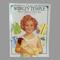 Vintage Shirley Temple Paper Dolls Book with 3 Size Dolls and Wardrobes - Uncut