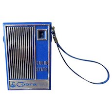 Vintage Cobra Two Solid State Transistor Radio with Carrying Strap