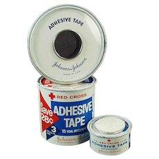 Assorted Vintage Medical Tins - J & J Red Cross Advertising Tins Grab Bag