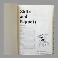 Vintage Craft & Project Book for Kids – Boy Scouts Skits & Puppets