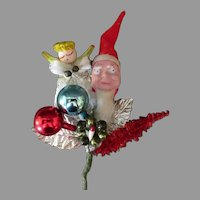 Vintage Christmas Package Decoration Ornament with Santa Claus, Angel and More