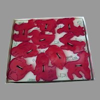 Vintage HRM Cookie Cutters Set - Ten Animal Figures with Original Box, (SEE NOTE)