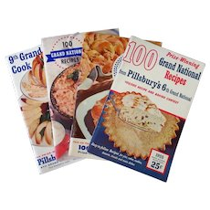 4 Vintage Pillsbury Grand National Bake-Off Recipe Booklets – 6th thru 9th 1954-1957