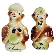 Vintage Elsie and Elmer Borden Cows Salt & Pepper Set