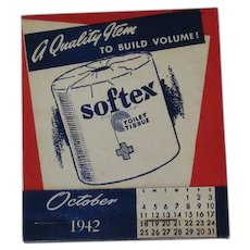 Vintage Softex Toilet Paper and Diamond Matches Advertising Item