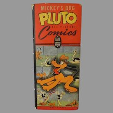 Vintage 1943 Tall Comics All Pictures Book – Mickey's Dog Pluto – Walt Disney
