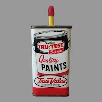 Vintage Advertising Tin - Master Mechanic Tru-Test Paints Advertising Household Oil Tin