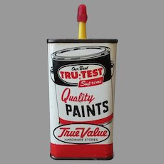 Vintage Advertising Tin - Master Mechanic Tru-Test Paints Advertising Household Oil Tin