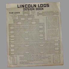 Vintage 1928 Lincoln Logs Design Book – For Fun and Useful Items