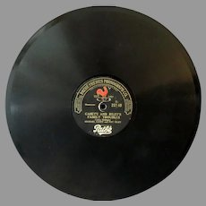 Vintage Pathe Freres Phonograph Record - Casey & Riley – Family Troubles/Lunch Hour