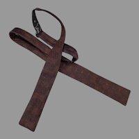 Vintage Bat Wing Bow Tie – Wembly Brown Brocade Adjustable Self Tie