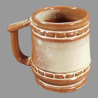 Vintage Frankoma Pottery C-10 Coffee Mug Cup in Desert Gold Glaze