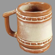 Vintage Frankoma Pottery C-10 Coffee Mug Cup in Desert Gold Glaze