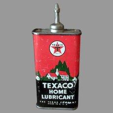 Vintage Oil Tin -  Texaco Home Lubricant Oil – Texas Co. Advertising