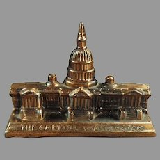 Vintage Desktop Paperweight of The Capitol Building in Washington D.C.