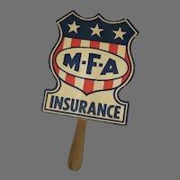 Vintage MFA Insurance Company Advertising Paper Fan