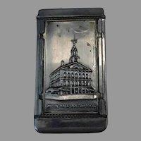 Vintage Souvenir Vesta Case or Match Holder - Boston Bunker Hill & Faneuil Hall