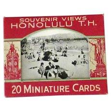 Vintage Souvenir Photo Pack Mailer - Old Black & White Photographs of Hawaii T.H.