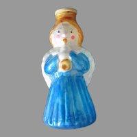 Vintage Christmas Ornament, Light Bulb Cover – Bright Blue Angel