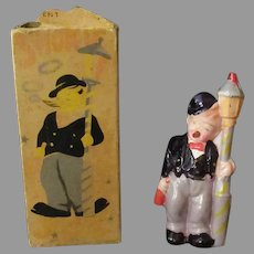Vintage Celluloid Smoking Novelty Toy - Smokie Joe