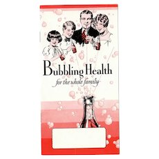 Vintage Bubbling Health Booklet – Red Diamond, Liquid Carbonic Gas Advertising