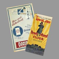 Vintage Advertising Booklets – Town Crier Recipe Booklet & Occident Flour Advertising Pamphlet