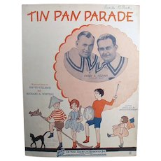 Vintage 1927 Sheet Music - Tin Pan Parade, Children on Cover - Ukulele Arrangement