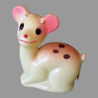Vintage Figural Celluloid Deer Tape Measure – Smiling Fawn