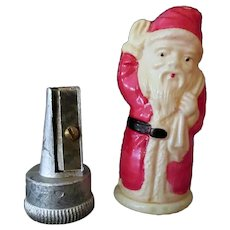 Vintage Celluloid Santa Claus Figural Pencil Sharpener – Made in Japan
