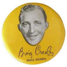 Vintage Celluloid Record Duster – Decca Records & Bing Crosby Advertising