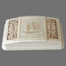 Vintage Hamilton Wrist Watch Bakelite Display Box with Ornate Design on Lid