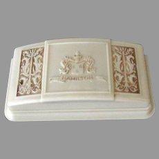 Vintage Hamilton Wrist Watch Display Box - Early Plastic with Ornate Design on Lid