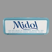 Vintage Midol for Menstrual Disorders Medicine Tin - Fun Bathroom Advertising Item