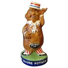 Large Ezra Brooks Mr. Maine Potato Liquor Bottle – 1973 Whiskey Decanter