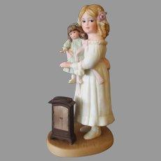 Vintage 1995 Jan Hagara Figurine – Young Victorian Girl with Her Doll - Tara