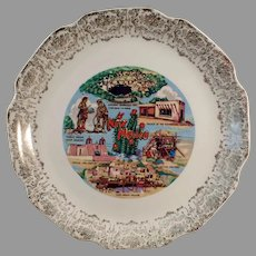Vintage Souvenir Plate with Nice New Mexico Landmarks including Carlsbad Caverns