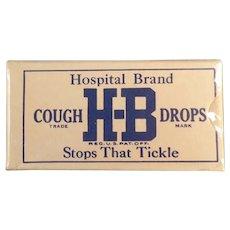 Unopened Vintage H-B Hospital Brand Cough Drop Sample Box
