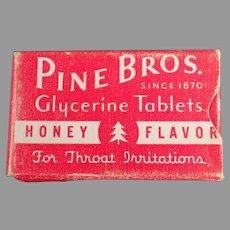 Vintage Pine Bros. Cough Drops - Early Sample Medicine Box