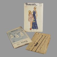 #3691 Butterick Pattern - Little Girls Pinafore Style Dress - Vintage Size 14