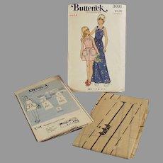 #3691 Butterick Pattern - Little Girls Pinafore Style Dress - Vintage Size 14
