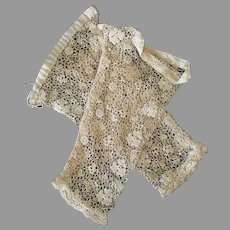 Vintage Ecru Colored Lace Cuffs - Perhaps Half Gloves / Bridal or Ball Gloves