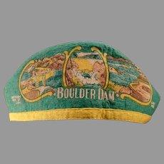 "Vintage Boulder Dam Souvenir - Old Felt Cap with ""I'm from Idaho"" on Hat"
