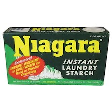 Vintage Niagara Starch Box – Colorful Laundry Room or Kitchen Decorating Item
