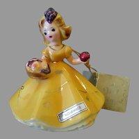 Vintage Josef Original Figurine - November with Harvest Basket - Japan