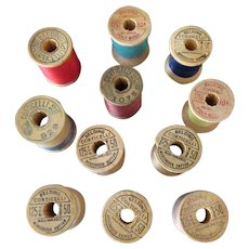 Vintage Wooden Thread Spools – Eleven Corticelli Wood Spools