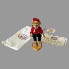 Vintage Miniature Bellhop Bear – Ganz Cottage Collectibles Stuffed Toy