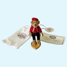 Vintage Miniature Bellhop Bear – Ganz Cottage Collectibles Stuffed Toy