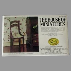 Vintage House of Miniatures Doll Furniture – #40007 One Kit 2 Unassembled Side Chairs