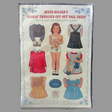 Vintage Queen Holden's Gloria Paper Doll - Uncut with Original Packaging