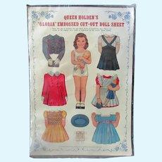 Vintage Queen Holden's Gloria Paper Doll - Uncut with Original Packaging
